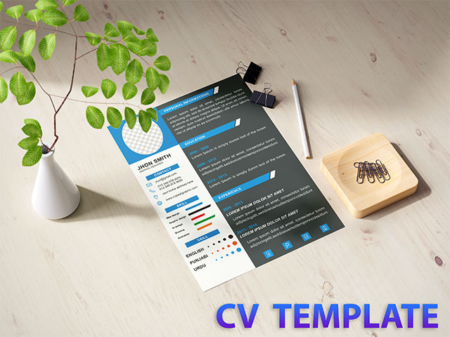 Cv Resume Template CorelDraw Cdr Vector File Free Download