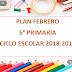 PLANEACIÓN FEBRERO 5° PRIMARIA CICLO ESCOLAR 2018-2019.