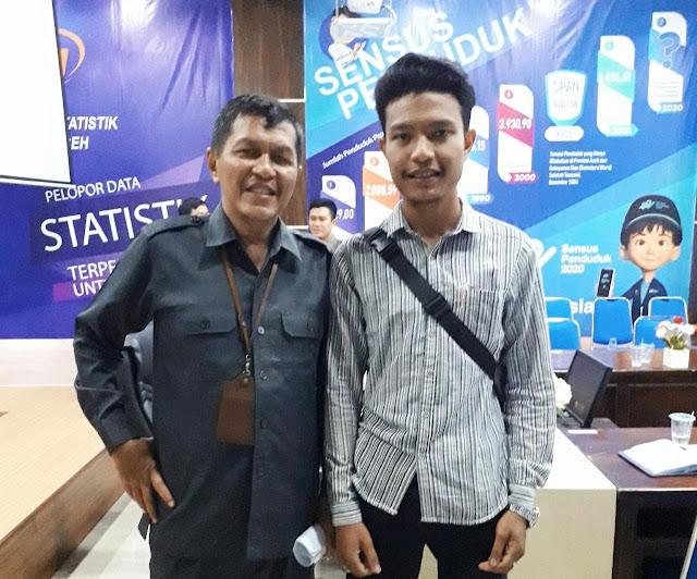 (Foto: Kepala BPS Aceh dan Sulthan Alfaraby usai berdiskusi)