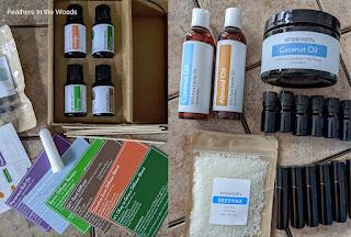 Essential oils subscription box contents