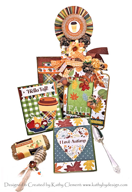 Welcome Fall Loaded Pocket Card by Kathy Clement for Really Reasonable Ribbon