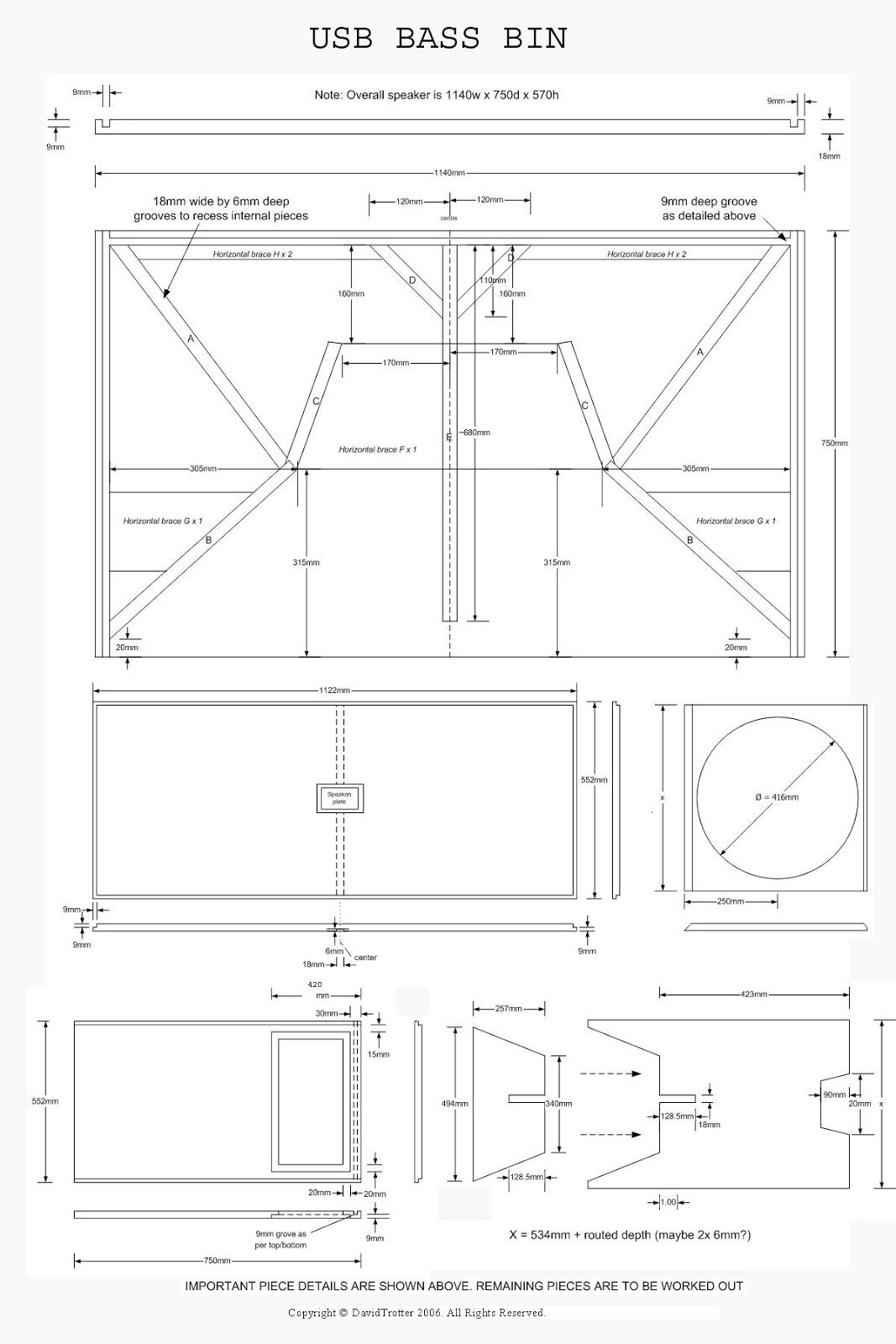 usb bass bin plans design