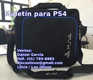 Maletin Para Ps4, Lleva Tu Consola Mandos Cables Juegos Peru