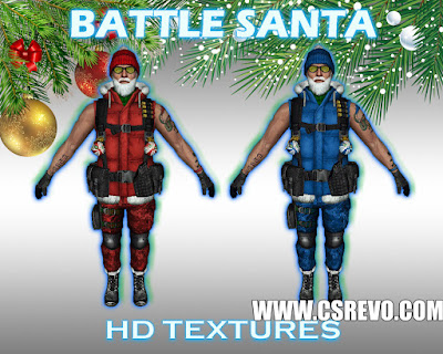 Skin Player - Battle Santa - HD para CS 1.6