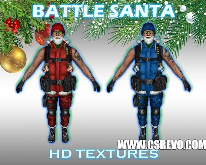 Skin Player - Battle Santa - HD para CS 1.6