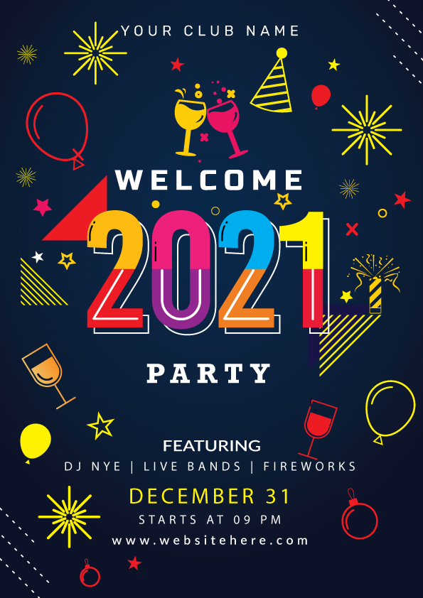 Happy New Year 2021 Poster Design