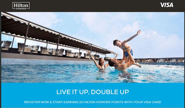 雙倍積分活動~Hilton希爾頓會員使用Visa高端卡 在亞太區酒店入住可獲雙倍積分(9/30前)