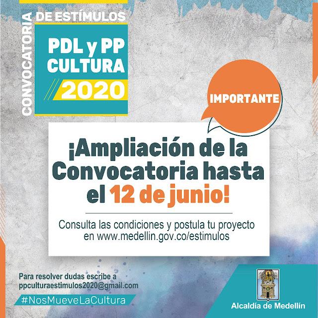 Convocatoria Estímulos Cultura Presupuesto Participativo 2020