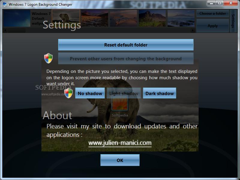 Windows 7 logon background changer free free - Windows 7 wallpaper changer software ...