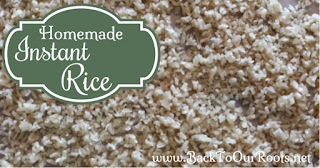 make instant rice in dehydrator