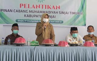 Wakil Bupati Sinjai Hadiri Pelantikan Pengurus Muhammadiyah dan Mengajak Untuk Bersinergi dengan Pemerintah