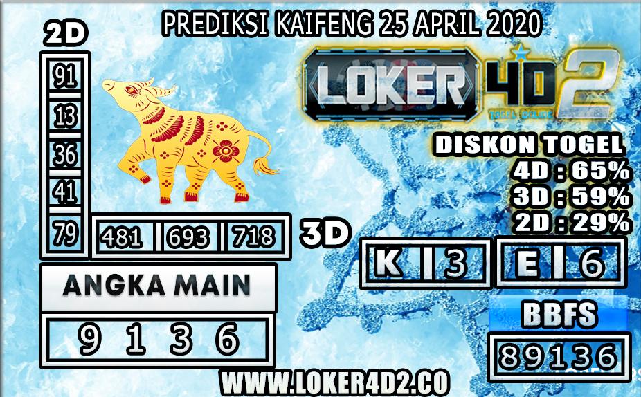 PREDIKSI TOGEL KAIFENG LOKER4D2 25 APRIL 2020
