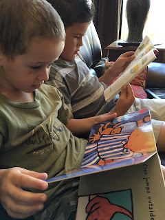 Brothers Reading Together: Barefoot Books-LadyD