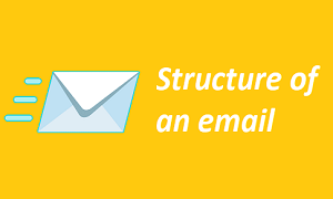 Structure of an email
