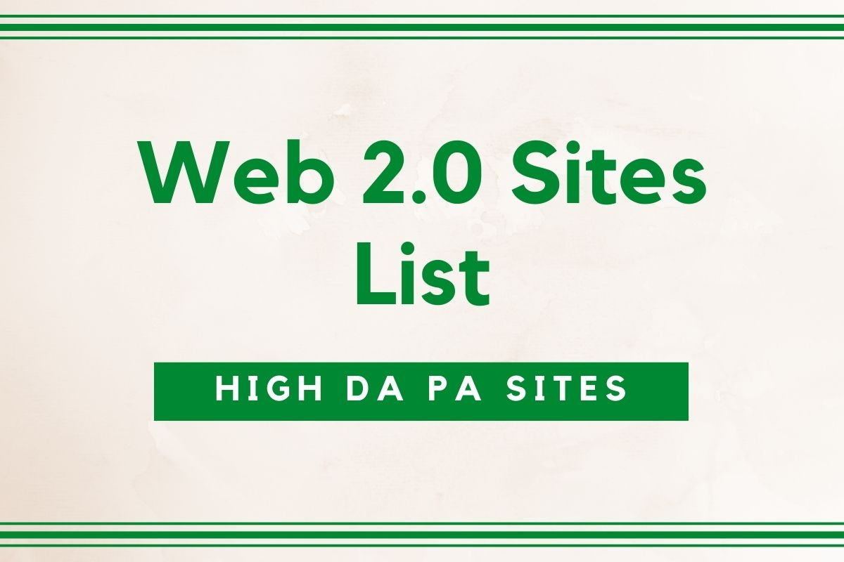 Free Web 2.0 Sites List
