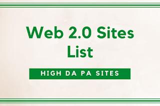 99 Free Web 2.0 Sites List for SEO { High DA PA Sites }