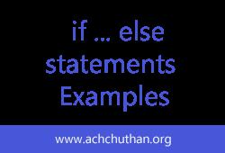 C++  if ... else statements