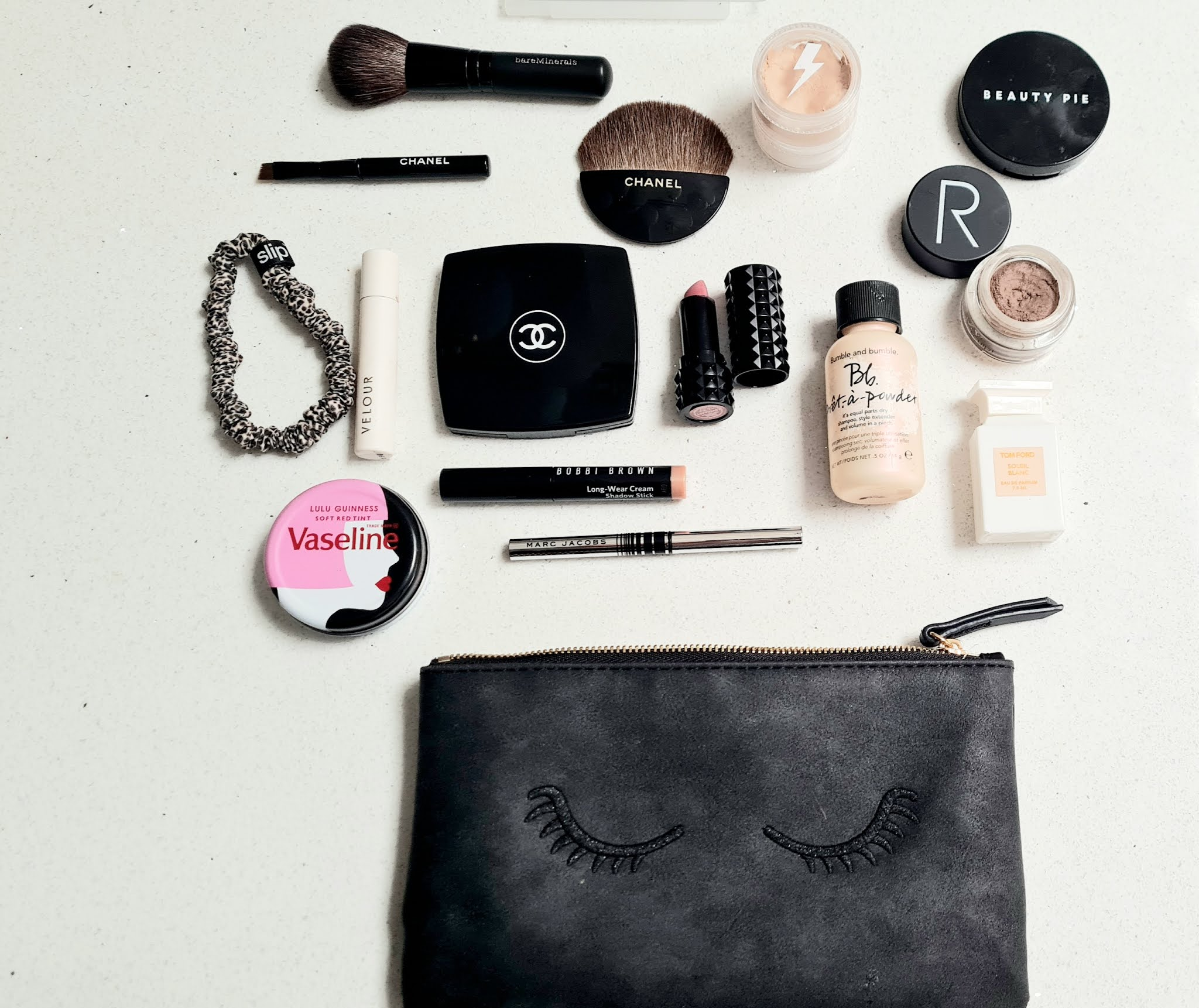 Travel size beauty mini makeup bag essentials