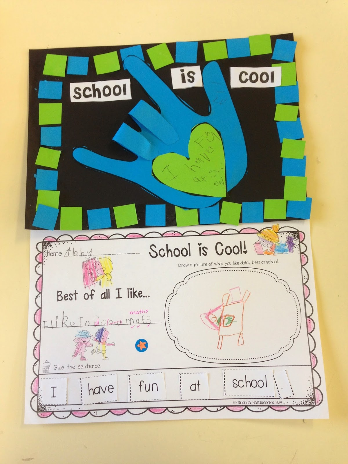 Classroom Fun School Is Cool Back To School Activity