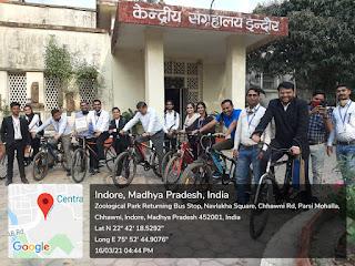 राष्ट्रीय सेवा योजना की 75 वीं वर्षगाठ के अवसर पर साईकिल रैली का आयोजन