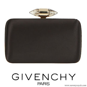 Meghan Markle carried Givenchy Black Satin Clutch With Jewelry Clasp