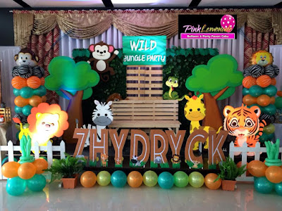 Safari Themed Stage decor for Zhydryck's 2nd Birthday