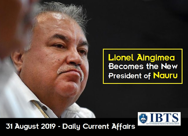 31 August 2019 - Daily Current Affairs