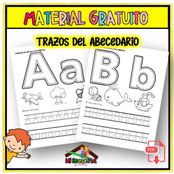 trazos de las letras del abecedario para escribir correctamente
