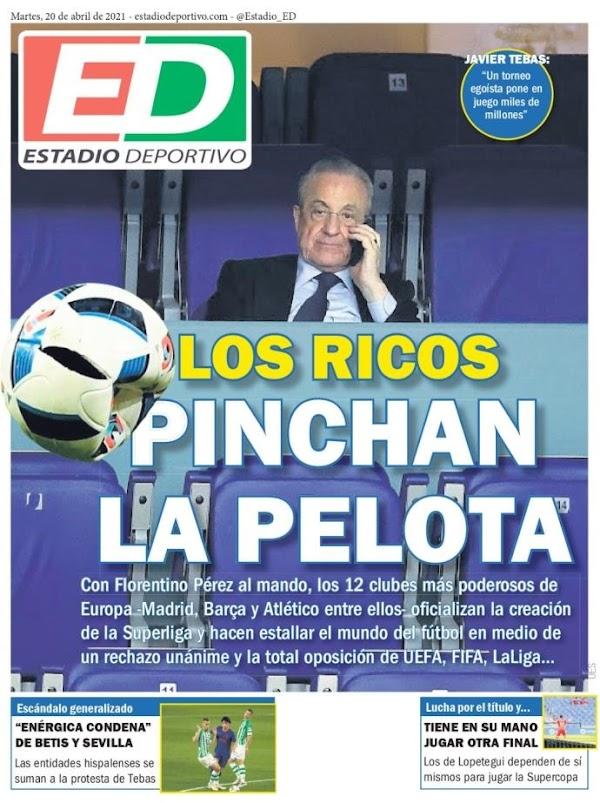 """Estadio Deportivo: """"Los ricos pinchan la pelota"""""""