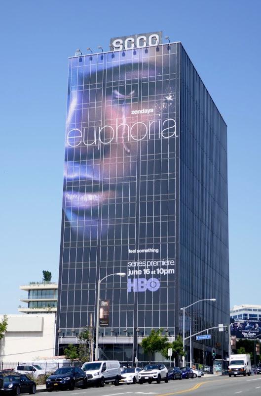 Giant Zendaya Euphoria series premiere billboard