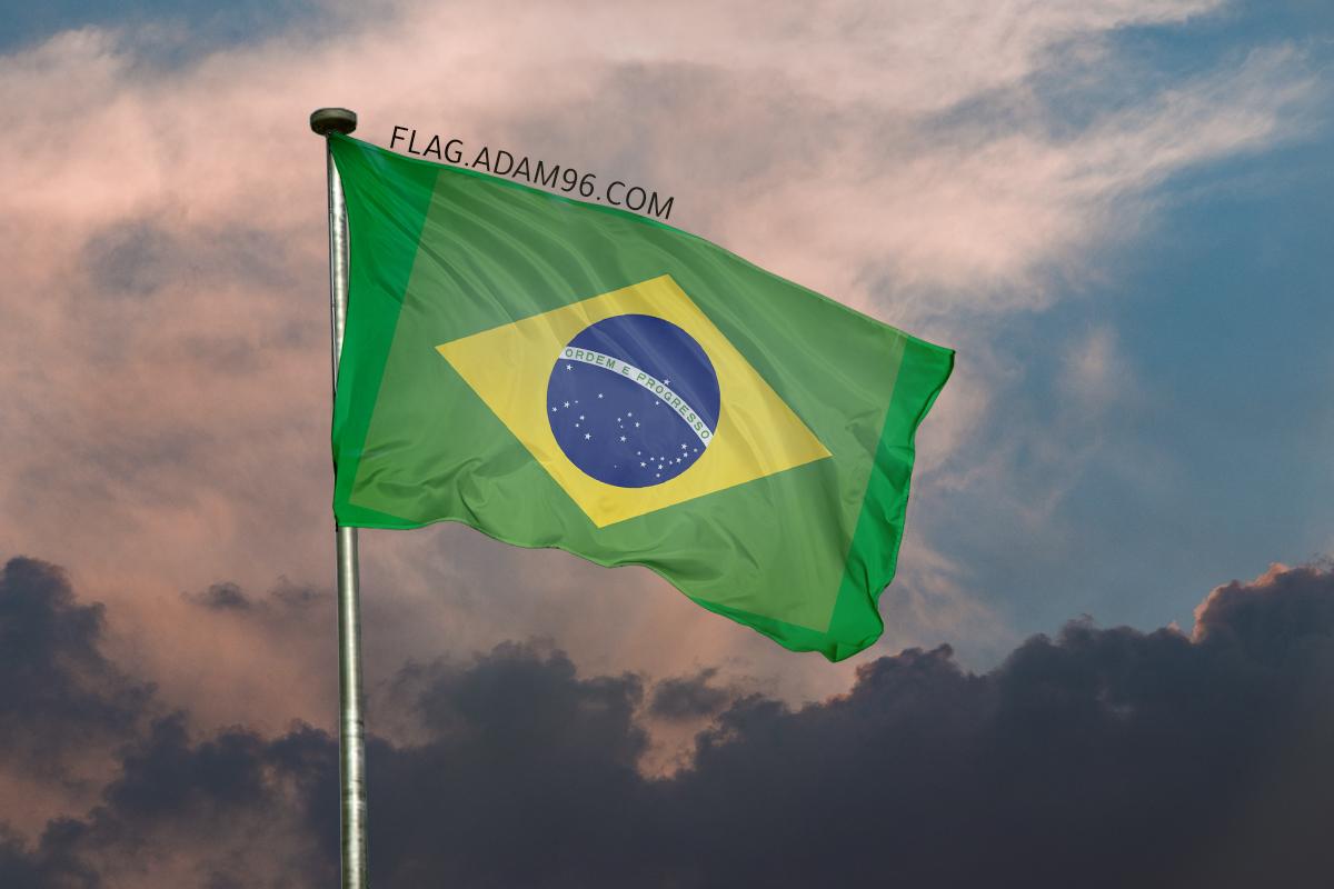 اجمل خلفية علم البرازيل يرفرف في السماء خلفيات علم البرازيل 2021