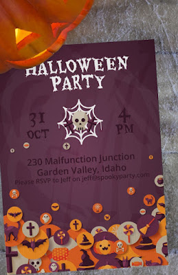 A Custom Party Halloween Invitation