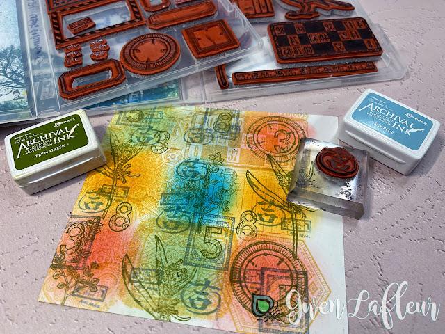 DIY Stamped Stickers Tutorial Step 3 - Gwen Lafleur