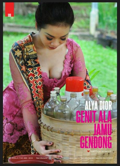 Alya Dior genit ala jamu gendong