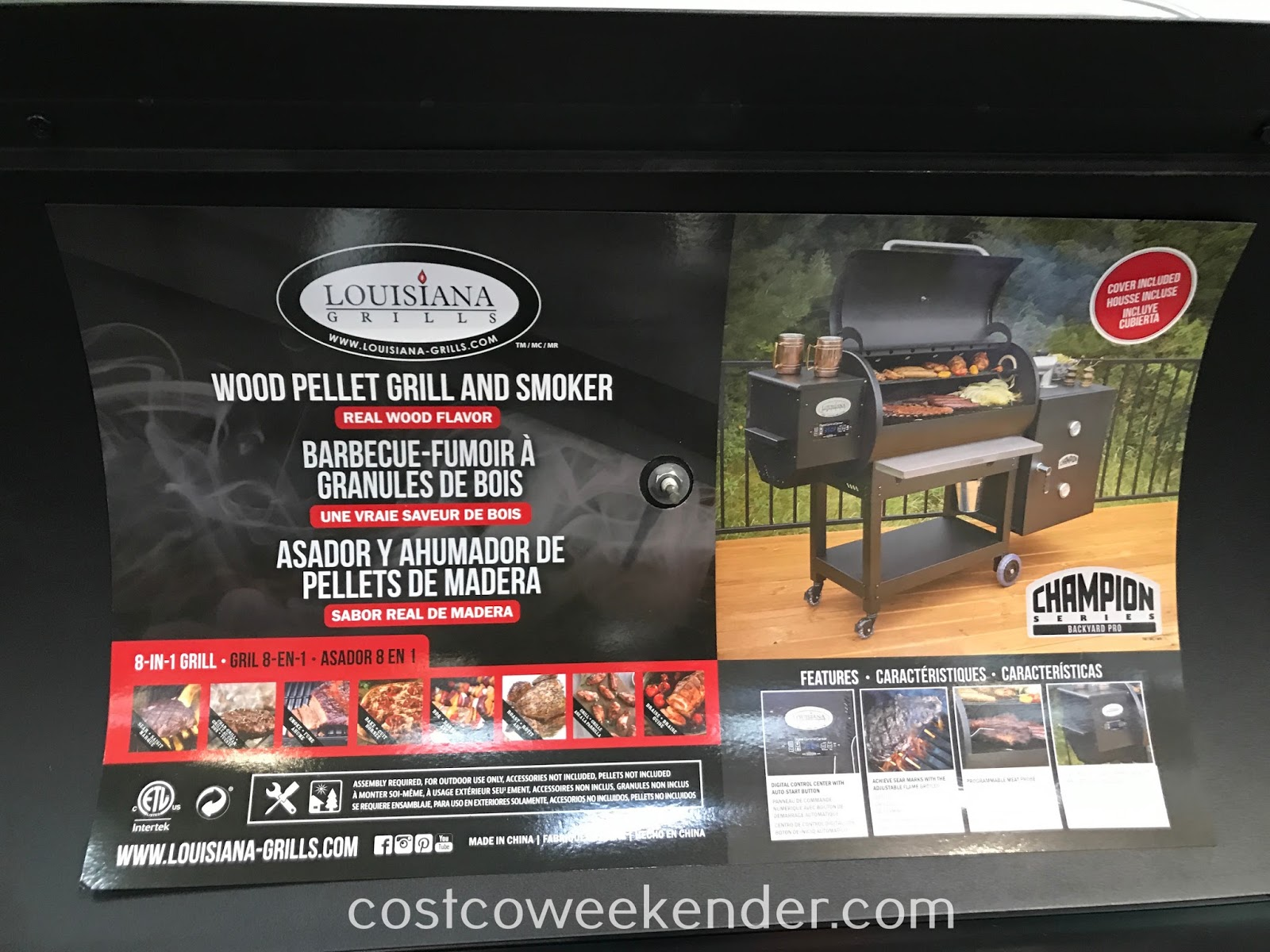 Costco 1500153 - Sear some steaks or smoke a brisket with the Louisiana Grills Wood Pellet Grill and Smoker (model 60901)