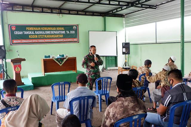 KodimKaranganyar - Pelihara Kondusifitas Di Wilayah,  Kodim Karanganyar Gelar Komsos Cegah Tangkal Radikalisme/Separatisme