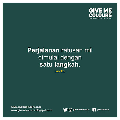 Kata Bijak Lao Tzu | Give Me Colours