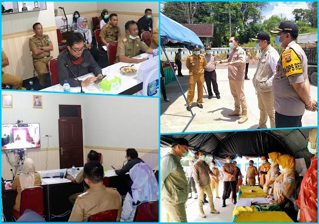 Pemda OKUS Bersama Gubernur Sumatera Selatan Giat Pencegahan Covid-19