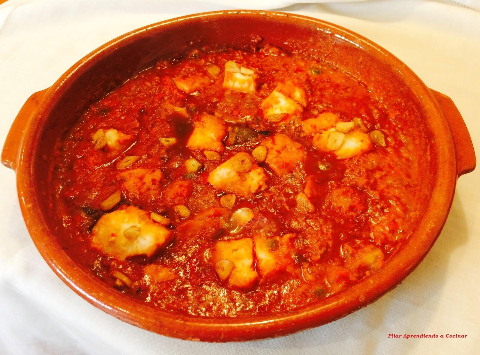 Aprendiendo a cocinar bacalao en tomate con patatas for Cocinar repollo con patatas