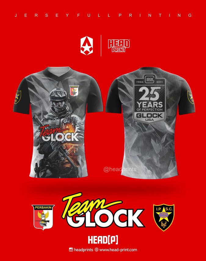 Team Glock Perbakin Jersey Full Printing - Jersey Satuan Jogja