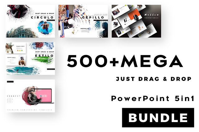 500 Mega 5 in 1 Splash PowerPoint Bundle