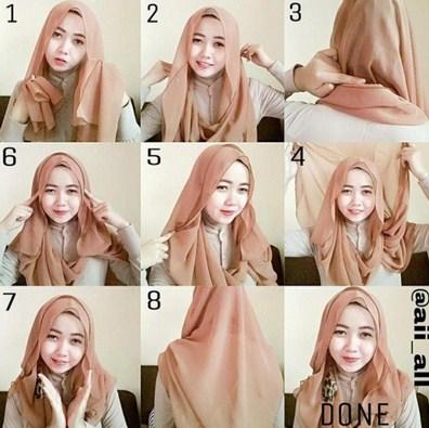 Ini dia tutorial hijab untuk pergi ke kondangan yang gak bikin ribet How to wear hijab fashion style step by step dailymotion