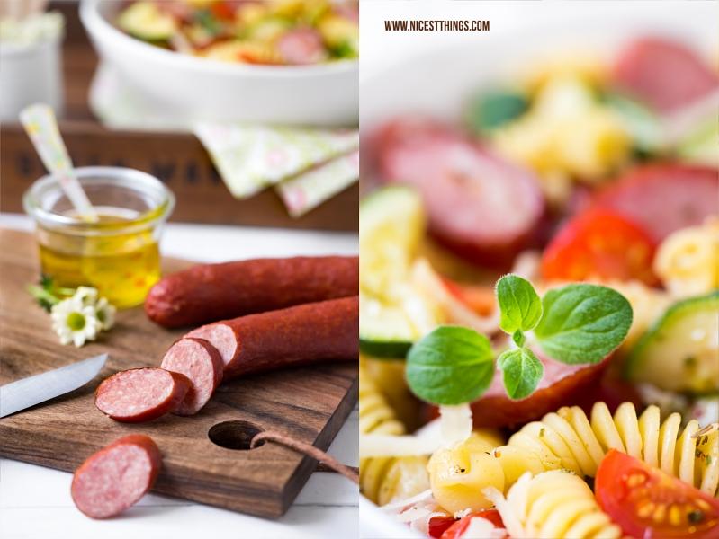 Rezept für italienischen klassischen Nudelsalat mit Kabanos