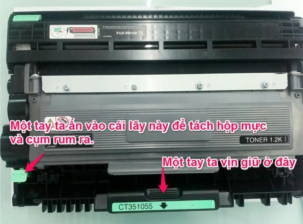 Hướng dẫn Nạp mực và reset mực máy in Fuji Xerox P225