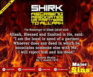 MAJOR SIN. 1.2. SHIRK - ASSOCIATES OR PARTNERS TO ALLAH | Kabira Gunah
