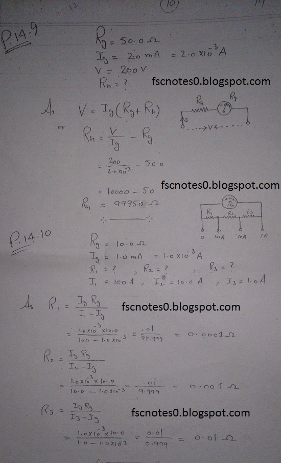 F.Sc ICS Notes: Physics XII: Chapter 14 Electromagnetism Numerical Problems Asad Hussain 3