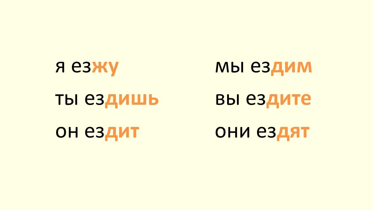 verb ezdit'
