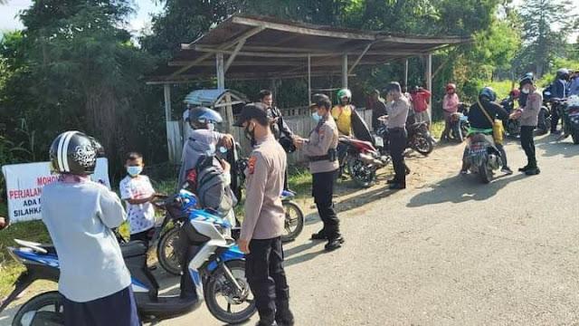 34 Unit SPM Terjaring saat Polsek Muara Tami Gelar Razia Ranmor
