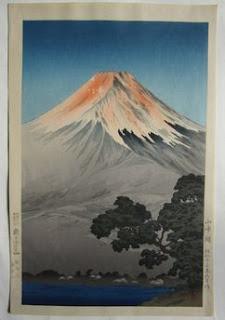土屋光逸 山中湖の木版画販売買取ぎゃらりーおおのです。愛知県名古屋市にある木版画専門店