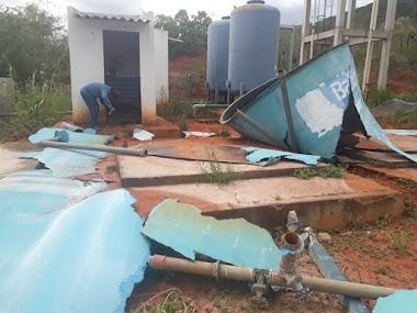 Danos nos pontos de abastecimento   são a causa da falta de água em Flamengo